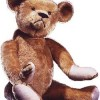 One of the original teddy bears, donated by the Michtom family and on display at National Museum of American History. Photo: Smithsonian